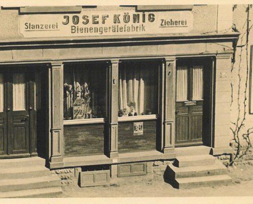 Gebäude/ Eingang Josef König Stanzerei, Bienengerätefabrik und Zieherei
